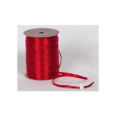 1/4in. x 100 yds. Pearlized Wraphia Ribbon, Red