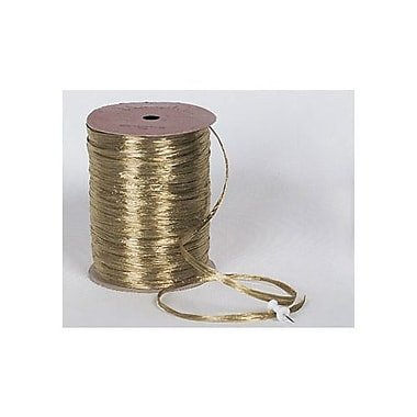 1/4in. x 100 yds. Pearlized Wraphia Ribbon, Champagne Gold