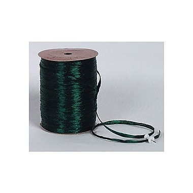 1/4in. x 100 yds. Pearlized Wraphia Ribbon, Hunter Green