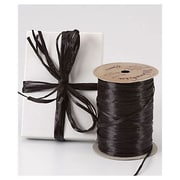 "1/4"" x 100 yds. Pearlized Wraphia Ribbon, Black"