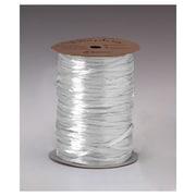 """1/4"""" x 100 yds. Pearlized Wraphia Ribbon, White"""