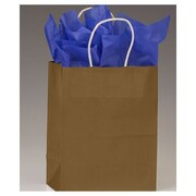 "Paper 10.5""H x 8.25""W x 4.75""D Shopping Bags, Metallic Gold, 250/Pack"
