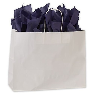 16in. x 6in. x 12 1/2in. High Gloss Paper Shoppers, White