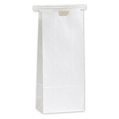 Sacs de magasinage avec étoiles givrées et poignées en boucle, 16 x 6 x 12 po, transparent, 100/paquet