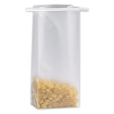 4 1/4in. x 2 1/2in. x 9 3/4in. Frosted Tin-Tie Bags, Clear