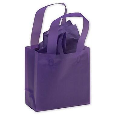 Sacs de magasinage givrés haute densité, 6 1/2 x 3 1/2 x 6 1/2 (po), raisin, 250/paquet