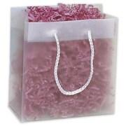 "Polyethylene 10""H x 8""W x 4""D High Density Euro-Shopper Bags, Clear, 200/Pack"