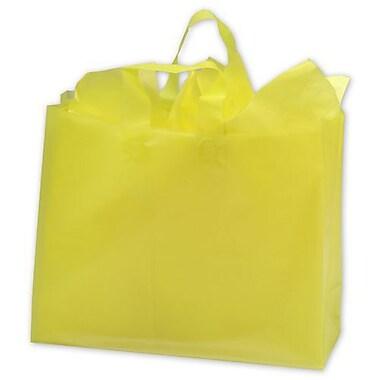 Sacs givrés à haute densité, 16 x 6 x 12 po, jaune, 250/paquet