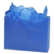 "Polyethylene 12""H x 16""W x 6""D High Density Shopper Bags, Blue, 250/Pack"