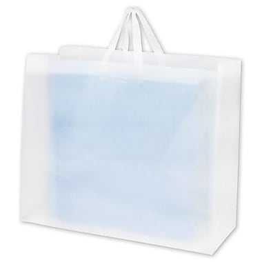 24in. x 9in. x 20in. Frosted High Density Flex Loop Shoppers, Clear