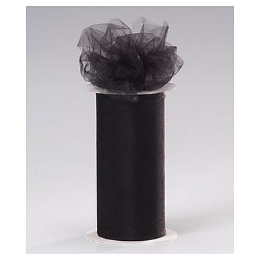 6in. x 25 yds. Sheer Tulle Ribbon, Black