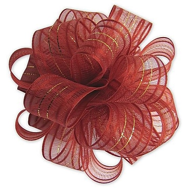 4in. Fasbos Polyster Bows, Red