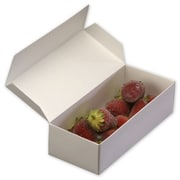 "Cardboard 1.75""H x 4.63""W x 7.25""L One-Piece Candy Boxes, White"