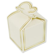 "1 1/4"" x 1 1/2"" x 1 1/2"" One-Piece Petal Style Truffle Boxes, White"