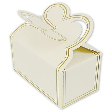 1 1/2in. x 1 1/2in. x 2 3/4in. Two-Piece Petal Style Truffle Boxes, White