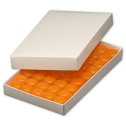 """9 3/8"""" x 5 5/8"""" x 1 1/8"""" One-Piece Candy Boxes, White"""