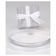 "5/8"" x 100 yds. Organza Satin Edge Ribbon, White"