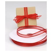 "5/8"" x 100 yds. Organza Satin Edge Ribbon, Red"