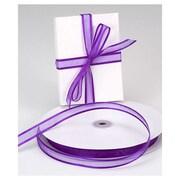 "5/8"" x 100 yds. Organza Satin Edge Ribbon, Purple"