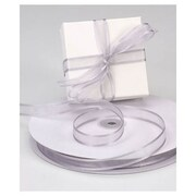 "5/8"" x 100 yds. Organza Satin Edge Ribbon, Silver"