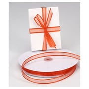 "5/8"" x 100 yds. Organza Satin Edge Ribbon, Autumn Orange"