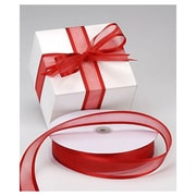 "1 1/2"" x 100 yds. Organza Satin Edge Ribbon, Red"