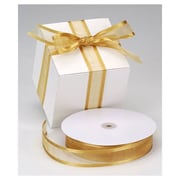 "1 1/2"" x 100 yds. Organza Satin Edge Ribbon, Gold"