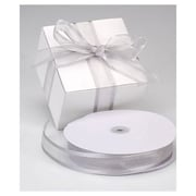 "1 1/2"" x 100 yds. Organza Satin Edge Ribbon, Silver"