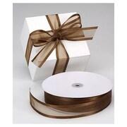 "1 1/2"" x 100 yds. Organza Satin Edge Ribbon, Chocolate"