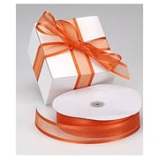"1 1/2"" x 100 yds. Organza Satin Edge Ribbon, Autumn Orange"