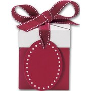 "Clay Coat News Back 3.5""H x 3""W x 3""L Gift Boxes, Red, 10/Pack"