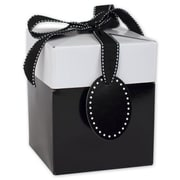 "Clay Coat News Back 4.75""H x 4""W x 4""L Gift Boxes, Black, 10/Pack"
