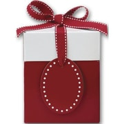 "Clay Coat News Back 4.75""H x 4""W x 4""L Gift Boxes, Red, 10/Pack"