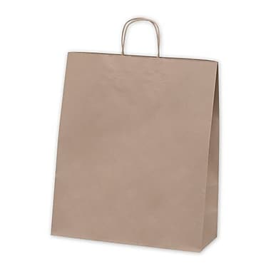 16in. x 6in. x 19in. Recycled Paper Queen Shoppers, Kraft