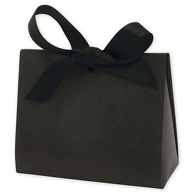 4 1/2in. x 2in. x 3 3/4in. Kraft Purse Style Gift Card Holder, Black