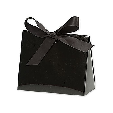 4 1/2in. x 2in. x 3 3/4in. Gloss Purse Style Gift Card Holder, Black