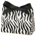 4 1/2in. x 2in. x 3 3/4in. Matte Laminated Purse Style Gift Card Holder, Zebra
