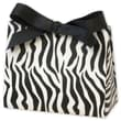 4 1/2in. x 2in. x 3 3/4in. Matte Laminated Purse Style Gift Card Holder, Zebra