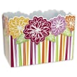 7 1/2in. x 6in. x 10 1/4in. Floral Medley Gift Basket Boxes, Pink/Green/Orange/Yellow