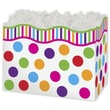 5in. x 4in. x 6 3/4in. Gumballs Gift Basket Boxes, White/Pink/Orange/Blue/Green/Red