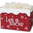 5in. x 4in. x 6 3/4in. Let It Snow Gift Basket Boxes, Red