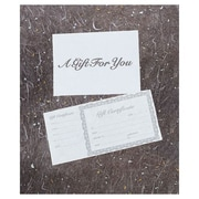 "8 3/8"" x 4 1/8"" Silver Gift Certificate, Ivory"