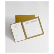 "8"" x 5"" Square Gift Certificate With Folder, Metallic Gold"