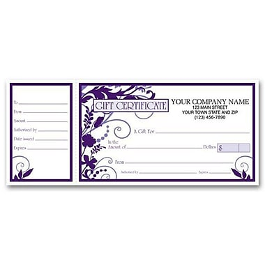 3 3/4in. x 9 1/4in. Gift Certificate With Envelope, Wisteria