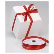 "5/8"" x 100 yds. Dyna Satin Ribbon, Red"