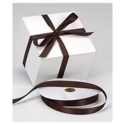 "5/8"" x 100 yds. Dyna Satin Ribbon, Chocolate"