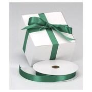 "7/8"" x 100 yds. Dyna Satin Ribbon, Holiday Green"