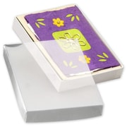 """Paper 1""""H x 5.38""""W x 7.38""""L Gift Boxes, Clear, 50/Pack"""