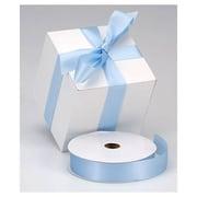 """1 3/8"""" x 100 yds. Dyna Satin Ribbon, Light Blue"""