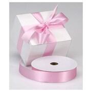 """1 3/8"""" x 100 yds. Dyna Satin Ribbon, Pink"""